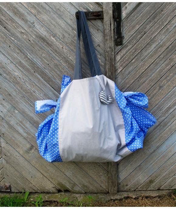Универсален шал, чанта или кърпа за пикник от Артелие - Cappuccino Morning Tote