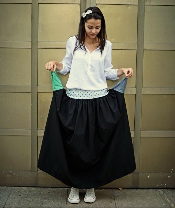 Long Black Summer Skirt Emo