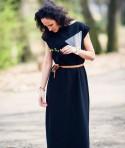 Long Black Cotton Dress Silke