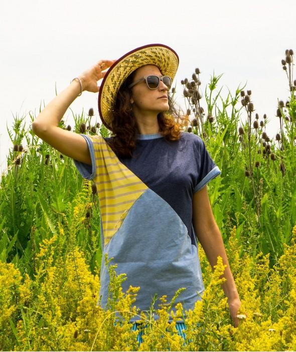 Авторска Дамска Тениска Yellow Mood