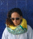Long Soft Yellow Infinity Scarf Shelf