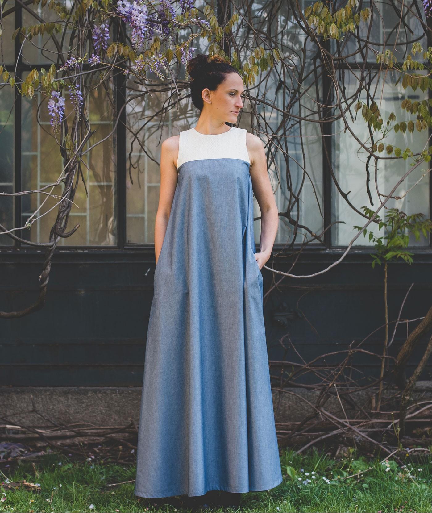 Long Loose Stylish Summer Dress Patrice