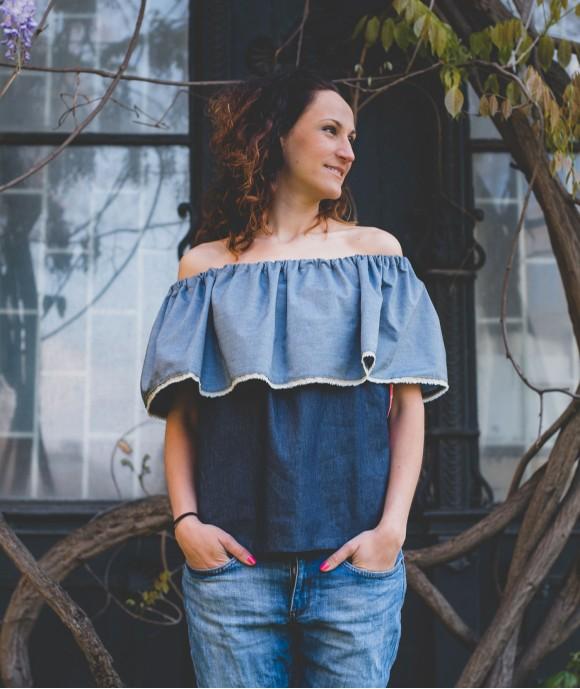 Дамска Лятна Блуза от Деним Ohana