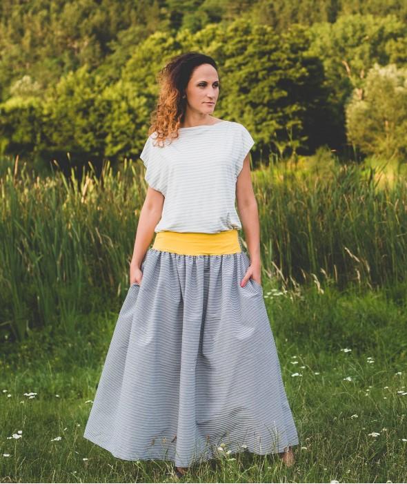 Long Loose Cotton Skirt Rorar