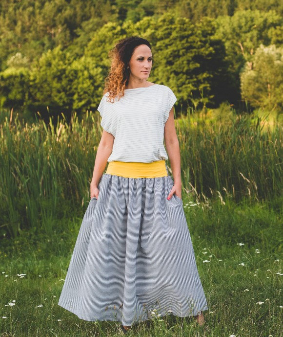 Long Loose Cotton Skirt Rorar
