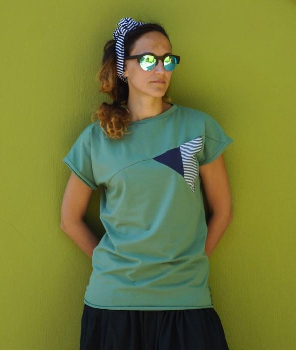 Women T-shirt Olive Mood