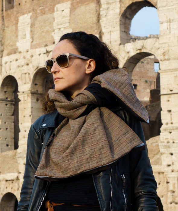 Large Neoprene Scarf Colosseum