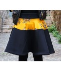 Short Black Neoprene Skirt Solana