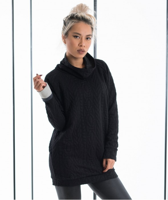 Черен Пуловер Hoenir