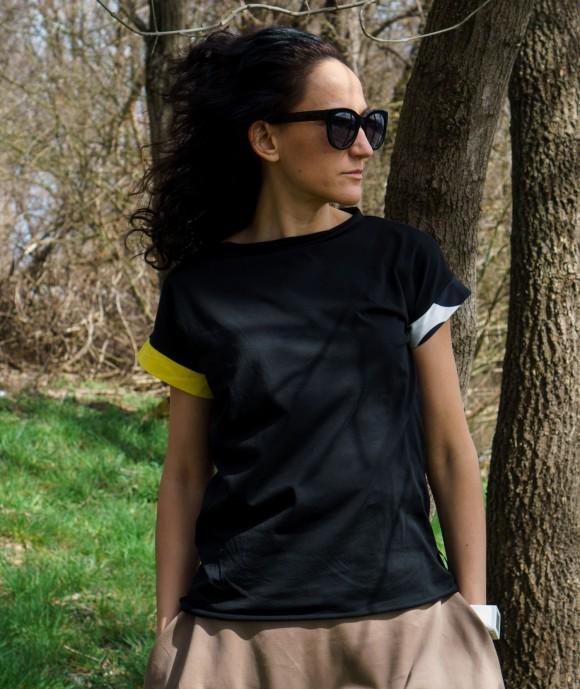 Черна Дамска Тениска Rockin