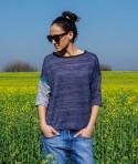 Нежна Памучна Синя Дамска Блуза Blueprint