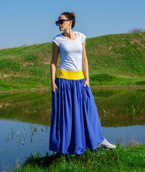 Long Soft Loose Skirt Chimera
