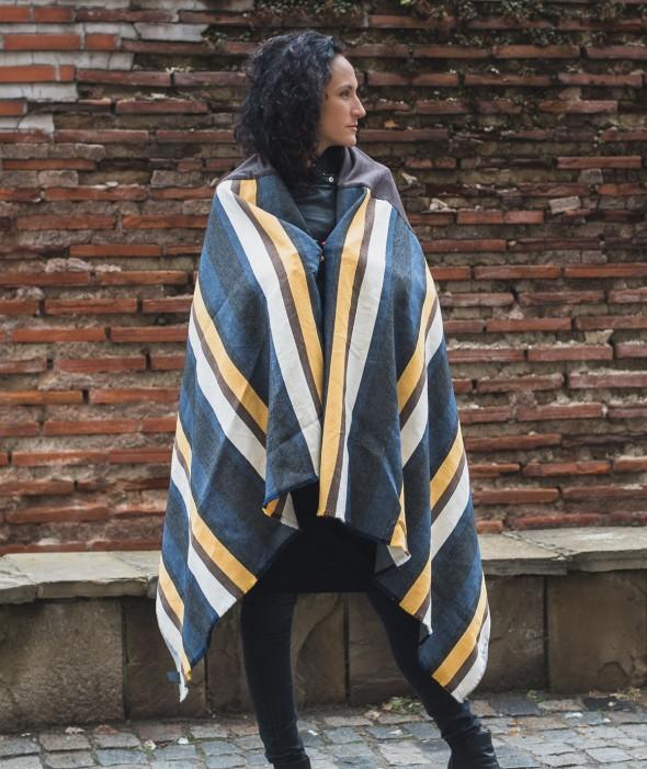 Striped Blanket Scarf Inka