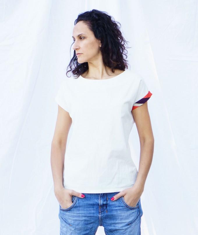 Бяла Дамска Тениска Kaleidoscope