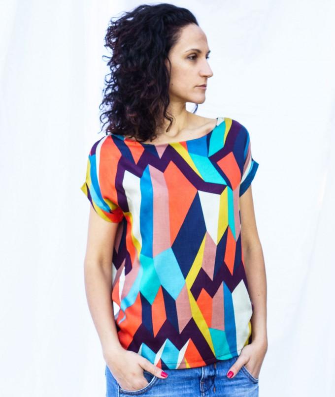 Цветна Дамска Тениска Kaleidoscope