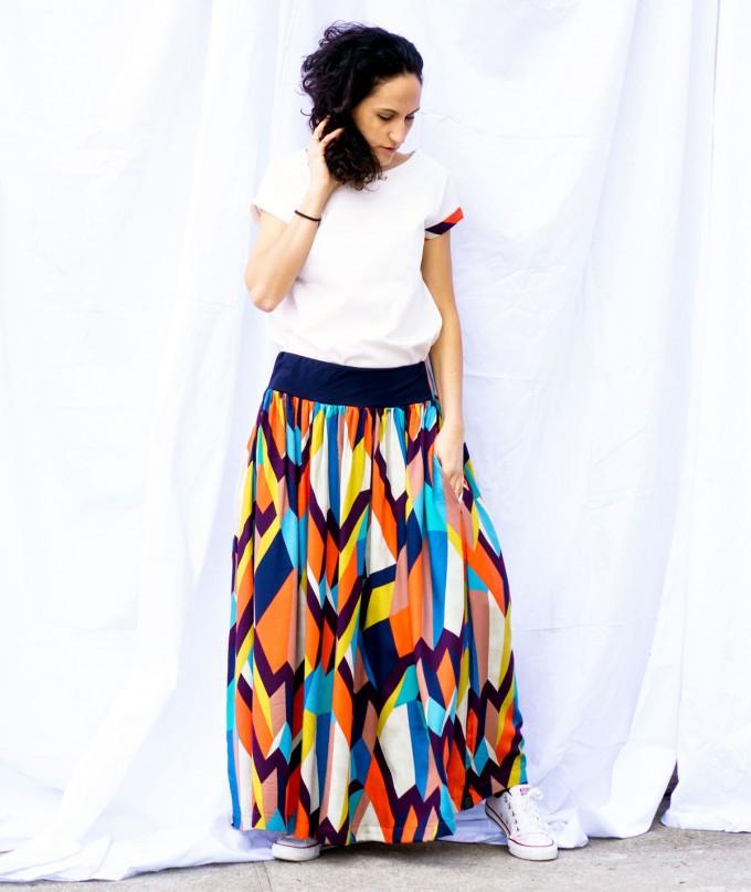Long Summer Colored Skirt Kaleidoscope