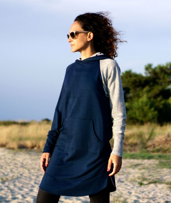 Long Women Sweatshirt Dress...