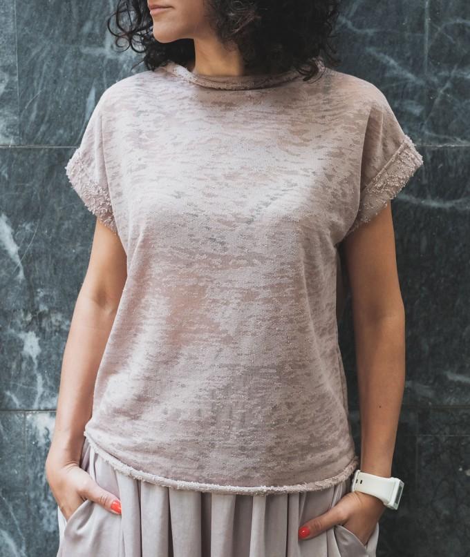 Дамска Бежова Тениска Jude