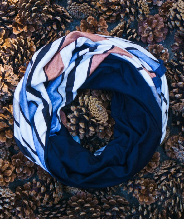 Long Striped Infinity Scarf...