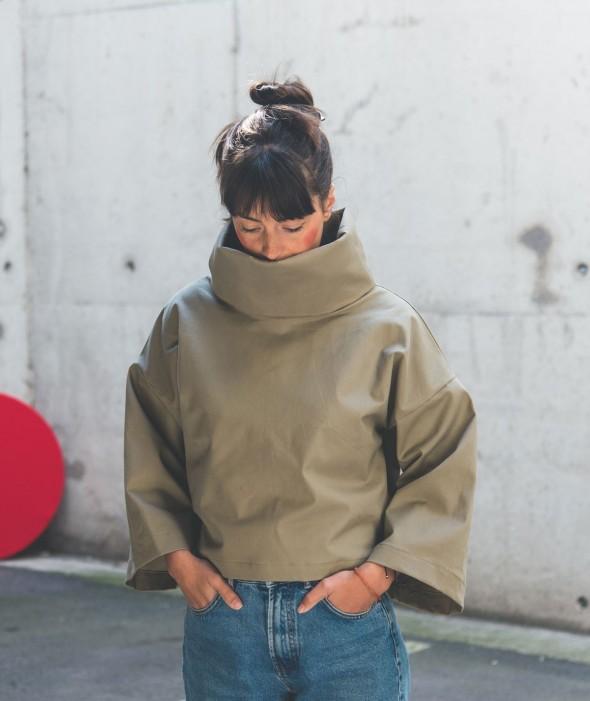 Дамска Блуза Висока Яка Nara